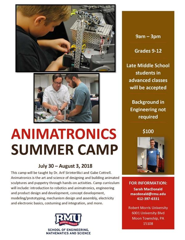2018 HS Animatronics Camp