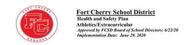 Athletic/Extracurricular Health and Safety Plan & Participation Waiver