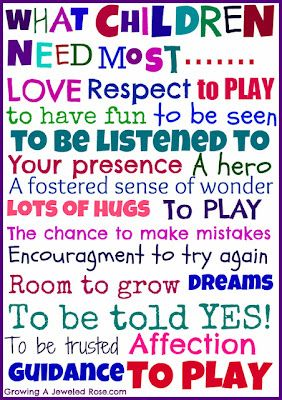 What Children Need Most....