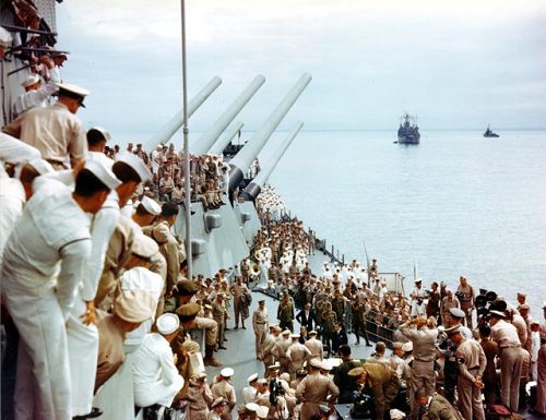 Japanese Surrender During WWII on the USS Missouri